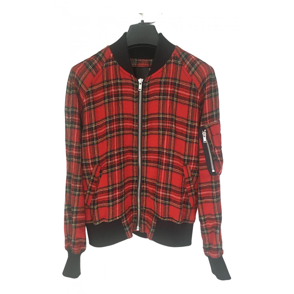 R13 - Veste   pour femme en laine - rouge