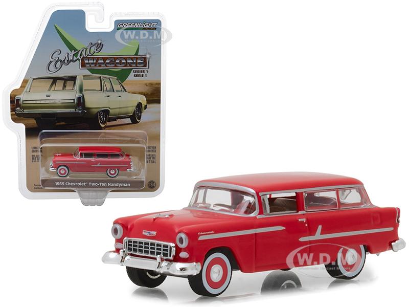 1955 Chevrolet Two-Ten Handyman Gypsy Red Estate Wagons Series 1 1/64 Diecast Model Car by Greenlight