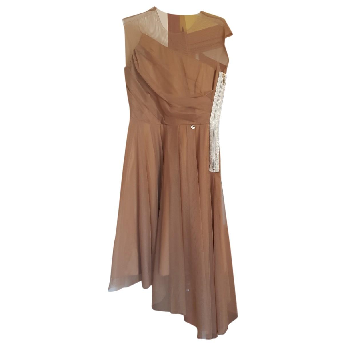 Sistes \N Kleid in  Kamel Polyester