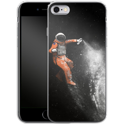 Apple iPhone 6 Silikon Handyhuelle - Space Astronaut von Florent Bodart