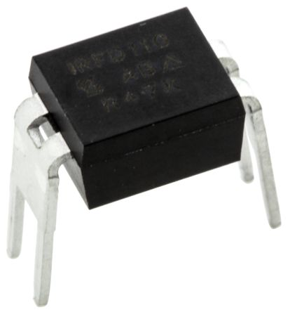 Vishay N-Channel MOSFET, 1 A, 100 V, 4-Pin HVMDIP  IRFD110PBF