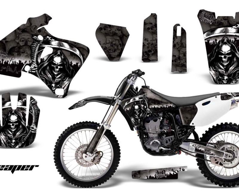 AMR Racing Dirt Bike Graphics Kit Decal Wrap For Yamaha YZ 250F/400F/426F 1998-2002áREAPER BLACK
