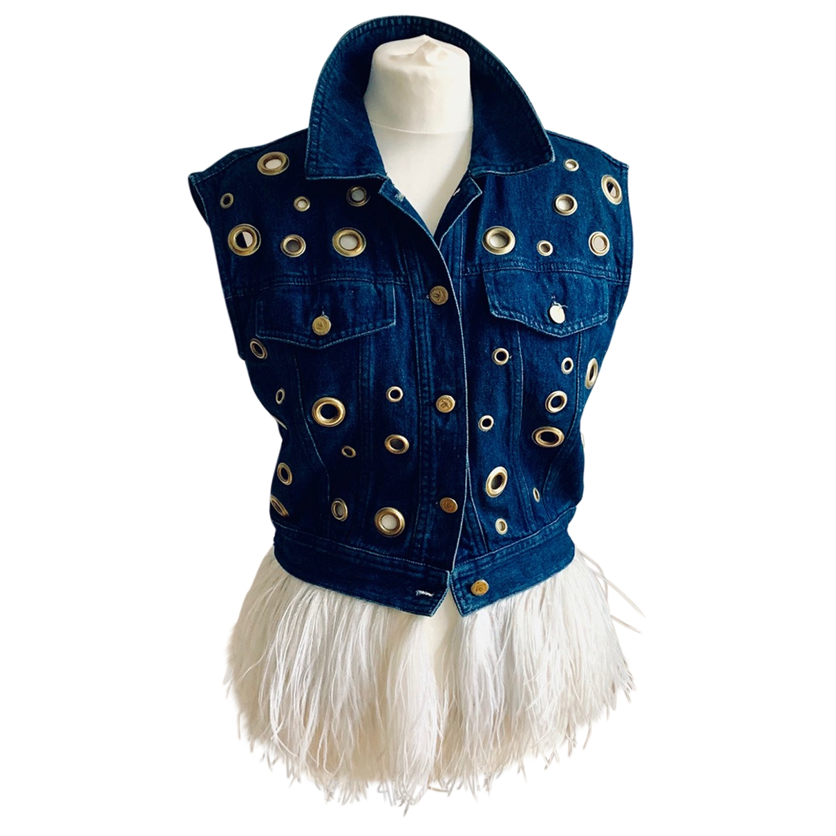 Moschino Cheap And Chic - Veste   pour femme en denim - bleu