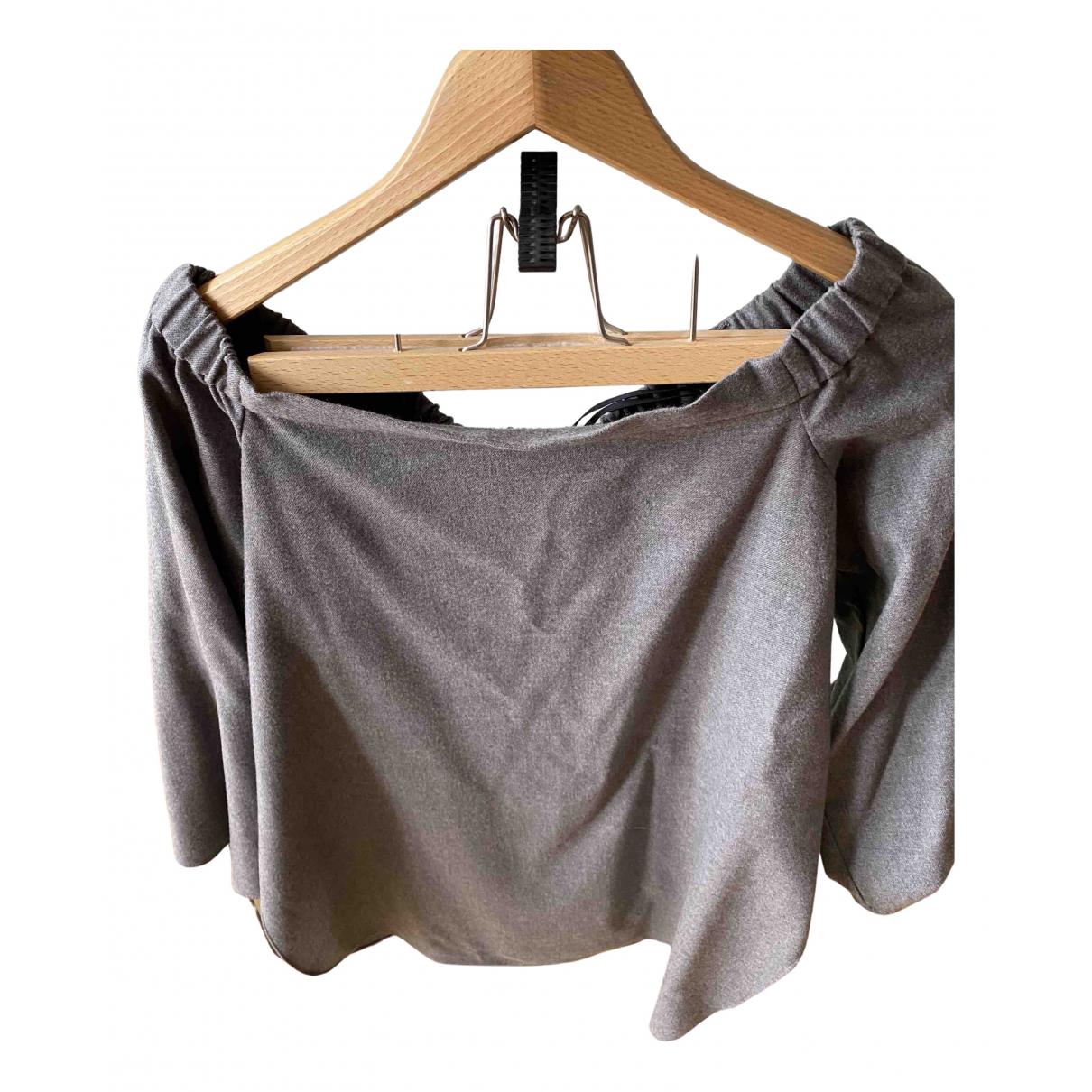 Tibi - Top   pour femme en laine - gris