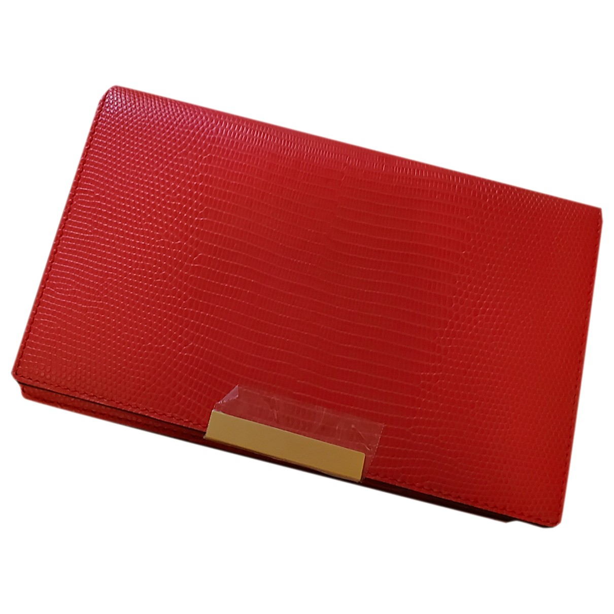 Oroton \N Clutch in  Rot Leder