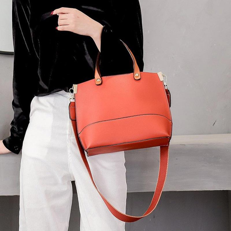 Ericdress Plain Soft PU Thread Rectangle Tote Bags