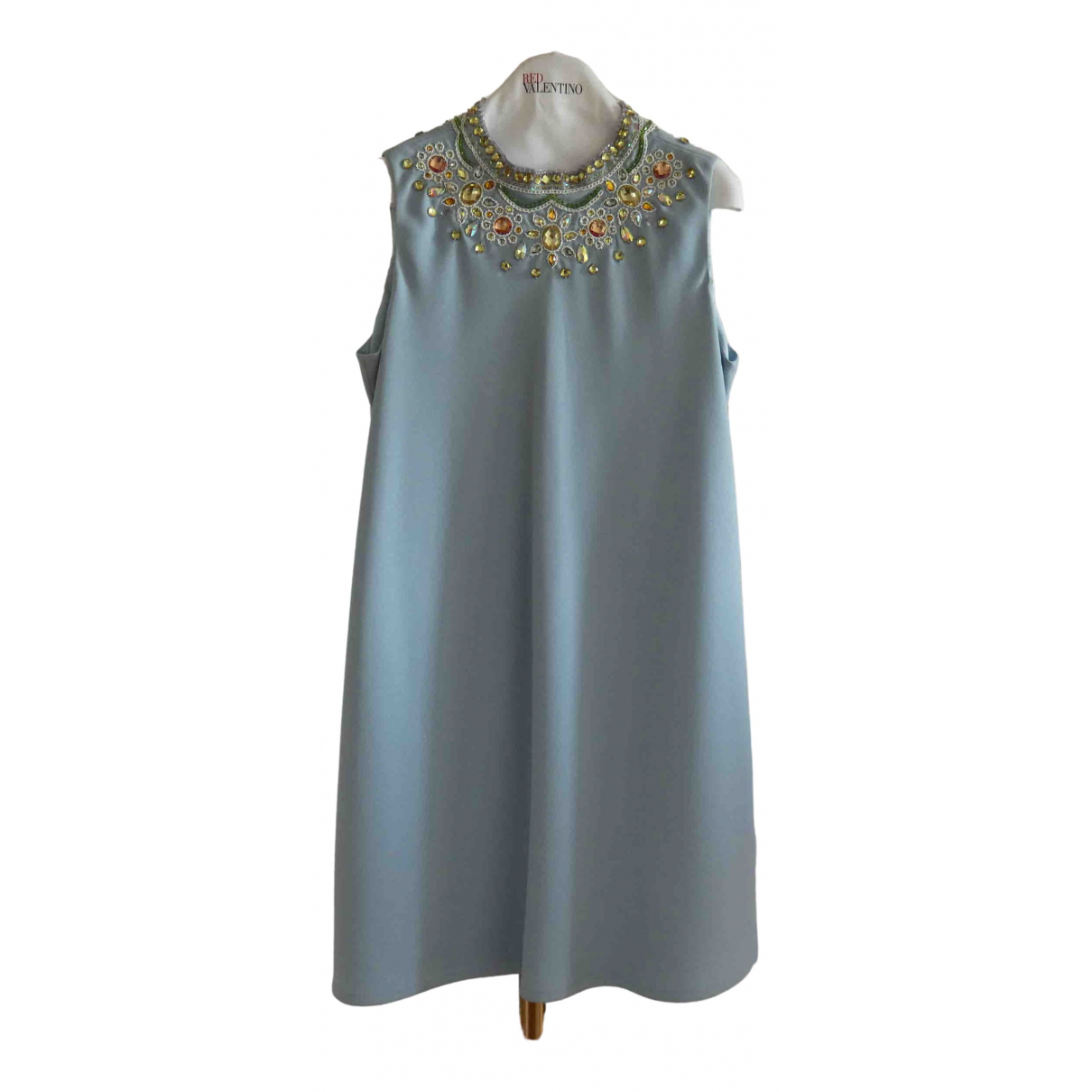 Moschino Cheap And Chic \N Kleid in  Tuerkis Polyester
