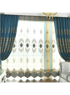 Blue Danube Style Soft and Transparent Silky Texture Custom Sheer Curtains