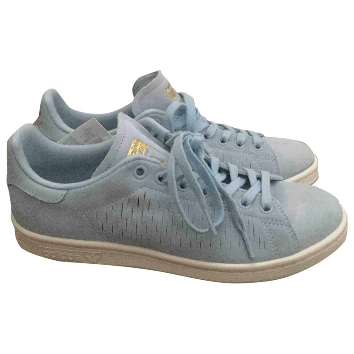 Adidas Stan Smith Blue Suede Trainers for Women 6 UK