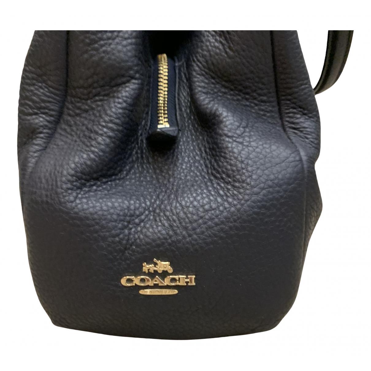 Coach N Navy Leather handbag for Women N