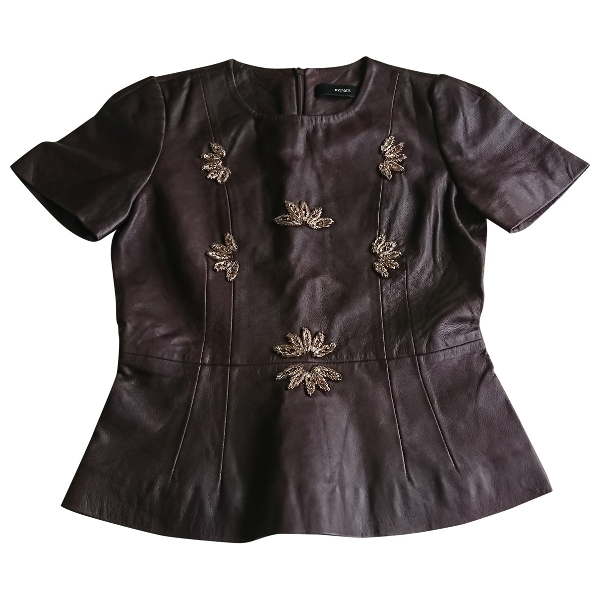 Uterque \N Brown Leather  top for Women S International