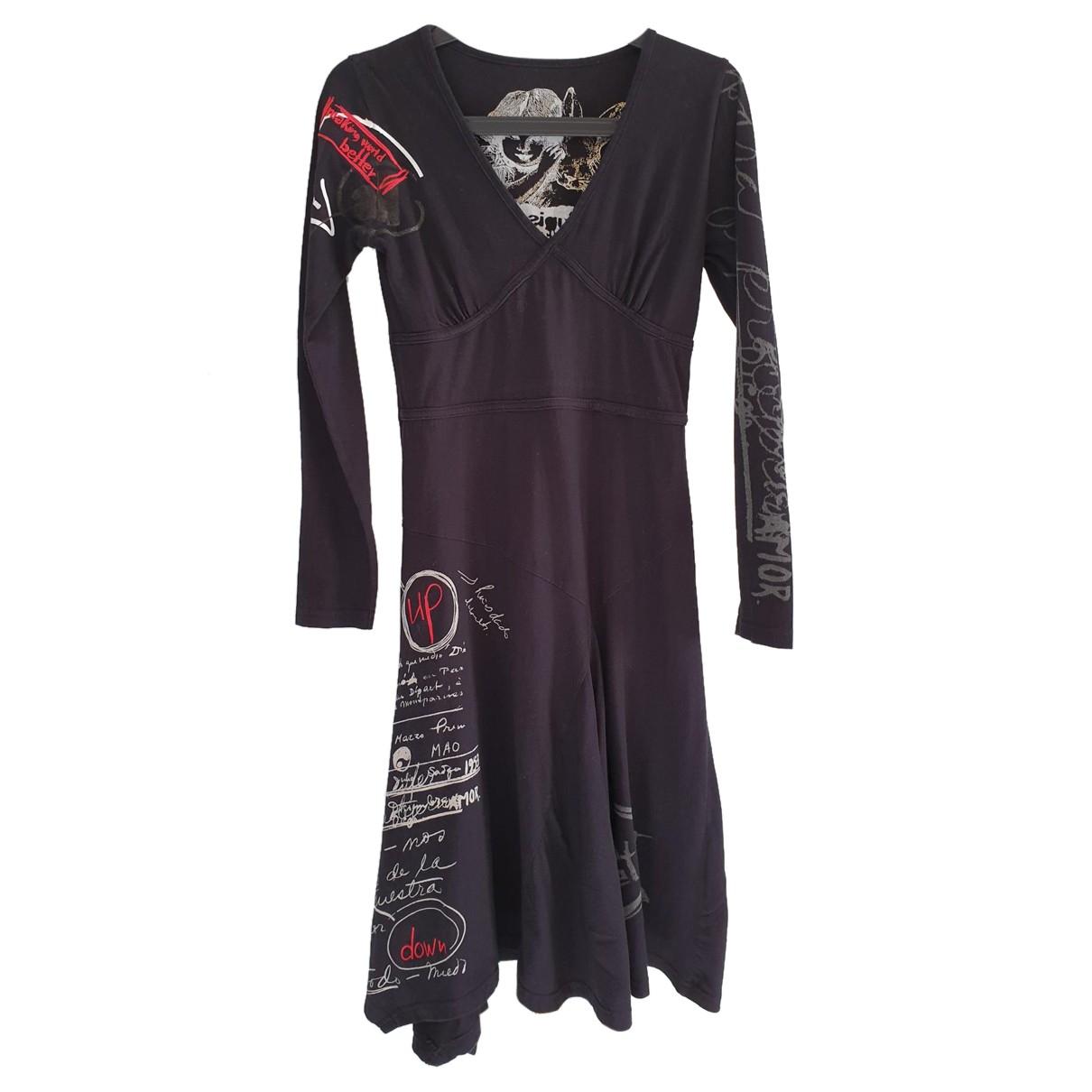 Desigual - Robe   pour femme en coton - noir