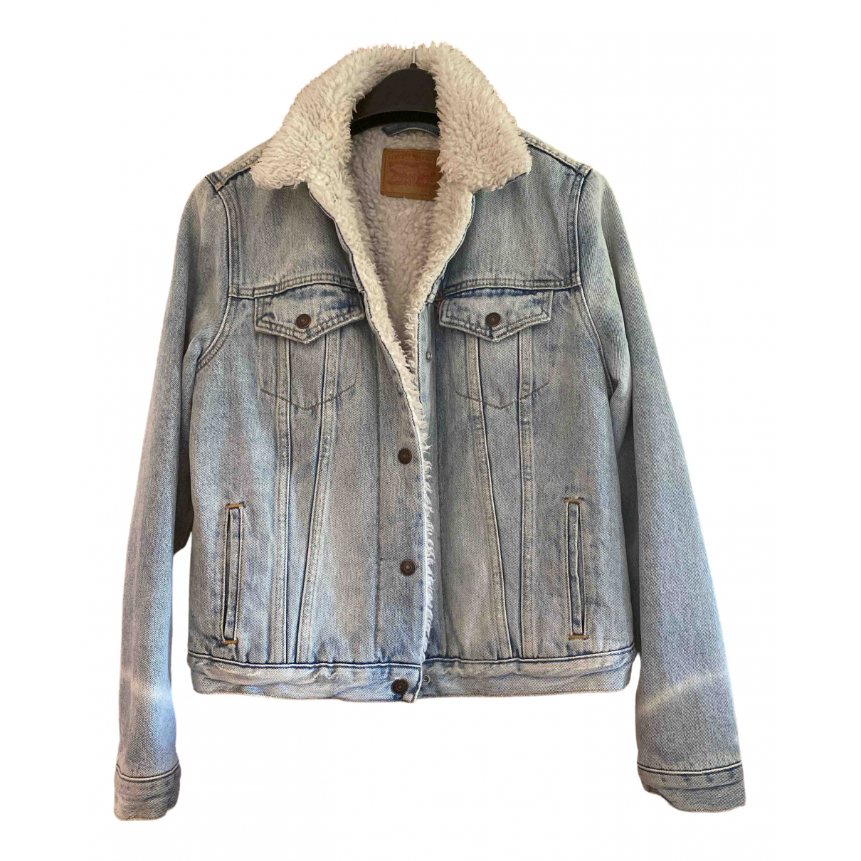 Levi's N Blue Denim - Jeans coat for Women 12 UK