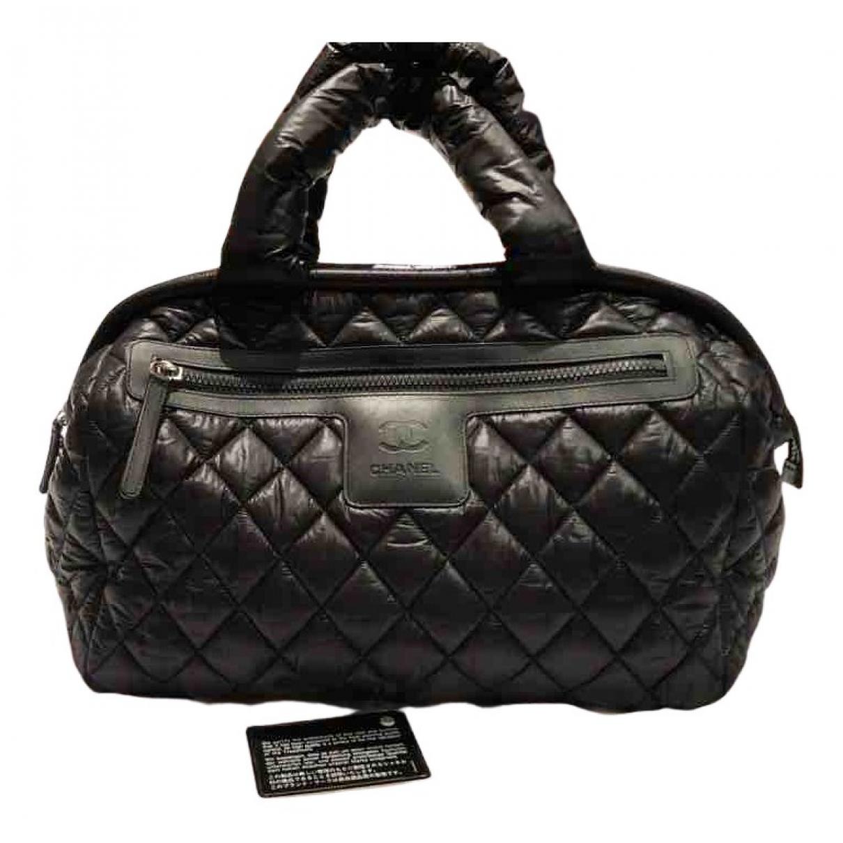 Chanel - Sac a main Coco Cocoon pour femme en toile - noir