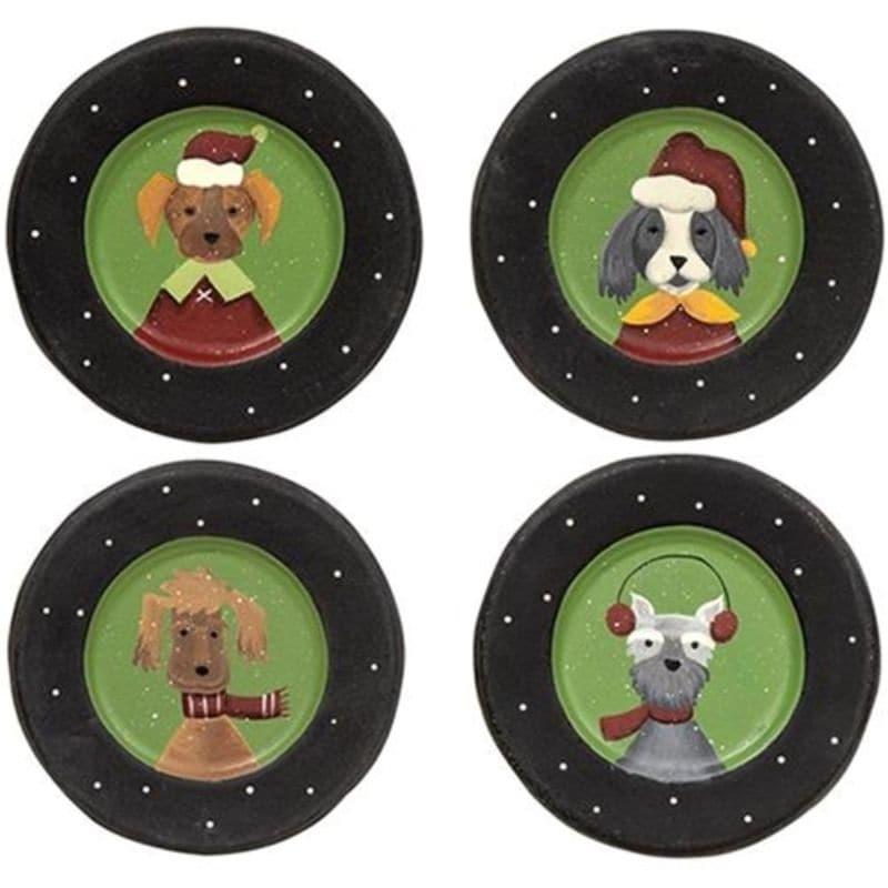 Christmas Dog Plate 4 Asstd. - Multi (Multi)