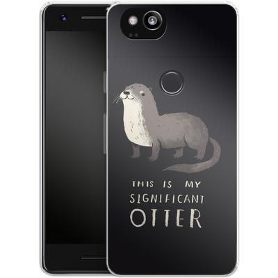 Google Pixel 2 Silikon Handyhuelle - This Is My Significant Otter von Louis Ros