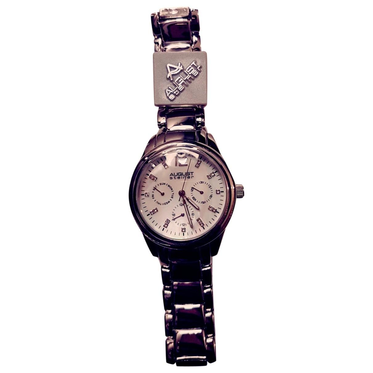 Atelier Auguste \N Uhr in  Silber Stahl