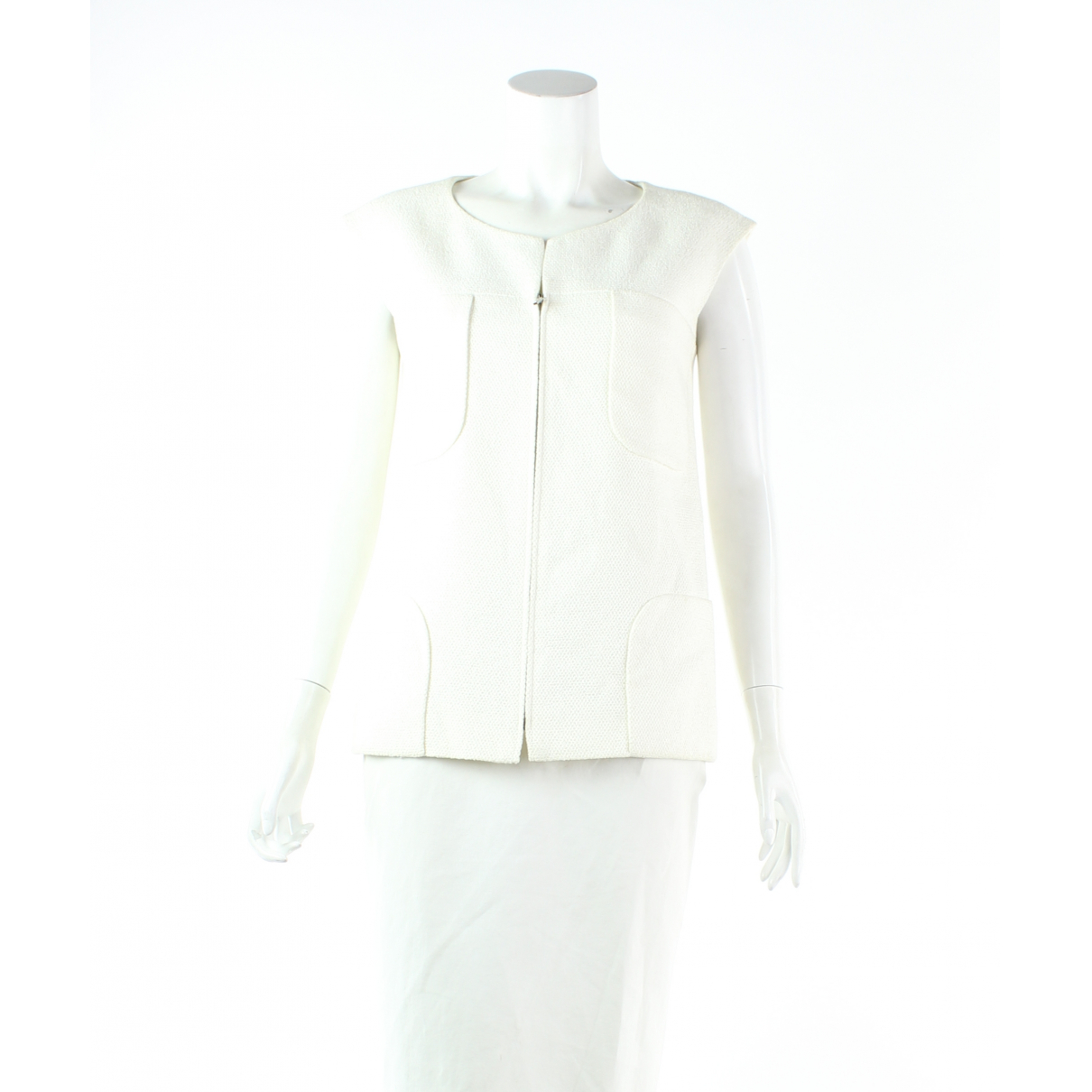 Chanel N White Cotton Knitwear for Women 36 FR