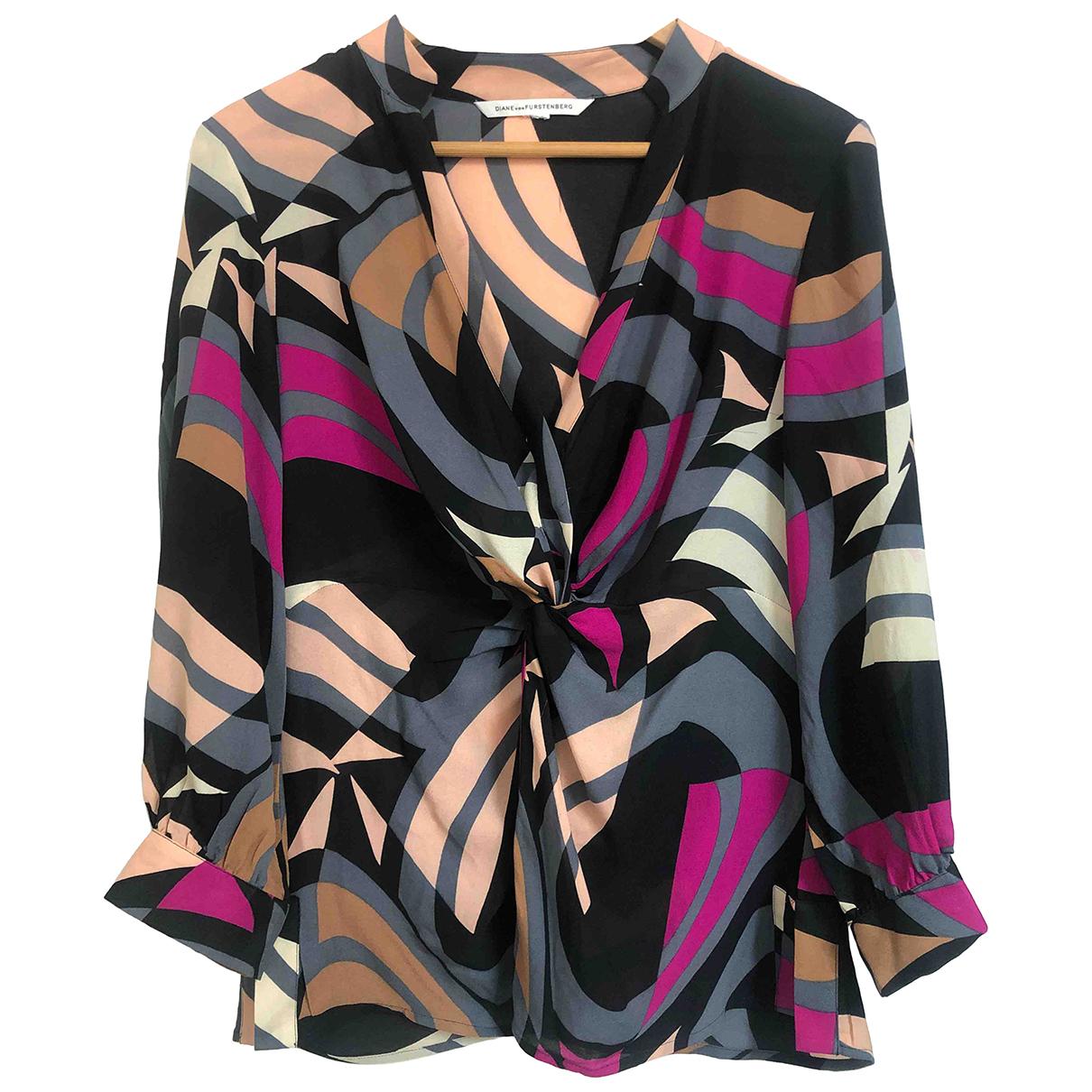 Diane Von Furstenberg N Multicolour Silk  top for Women M International