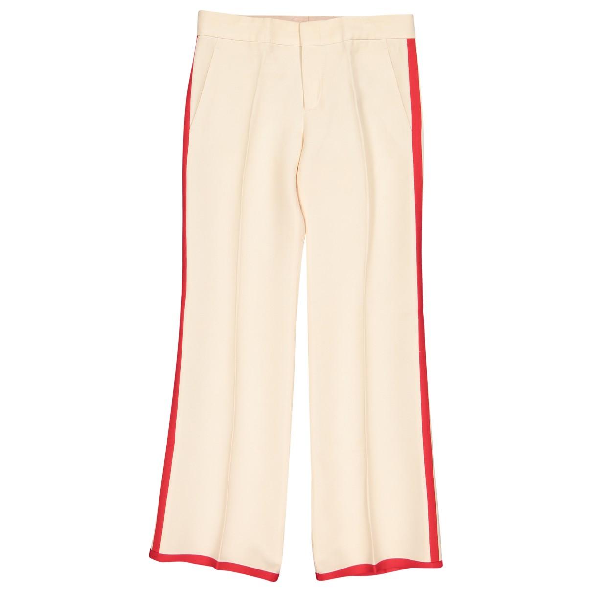 Gucci \N Beige Wool Trousers for Women 38 IT