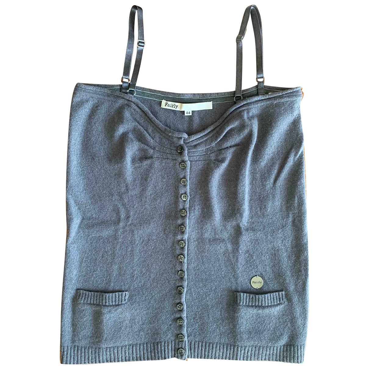 - Top   pour femme en laine - gris
