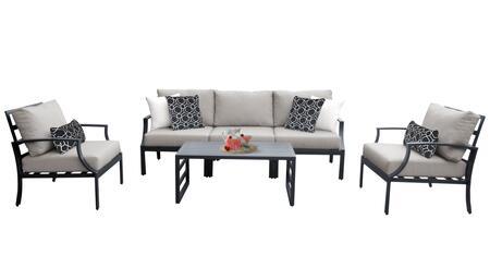 Lexington LEXINGTON-06r 6-Piece Aluminum Patio Set 06r with 2 Club Chairs  1 Armless Chair  1 Left Arm Chair  1 Right Arm Chair and 1 Coffee Table -