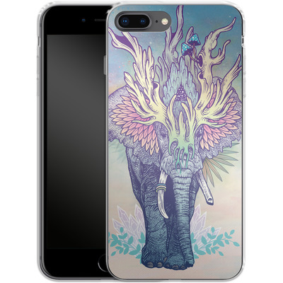 Apple iPhone 7 Plus Silikon Handyhuelle - Spirit Elephant von Mat Miller