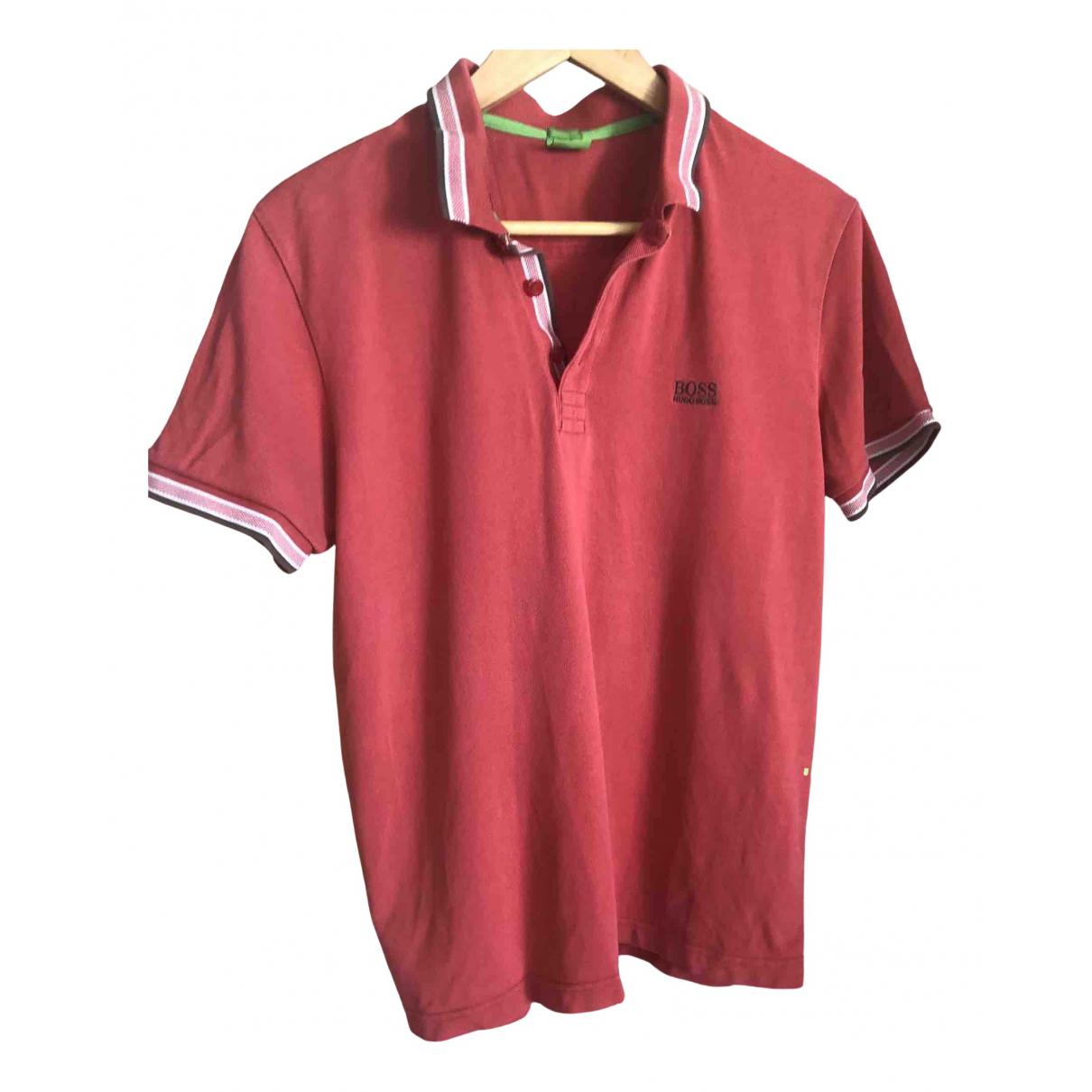 Boss - Tee shirts   pour homme en coton - rouge