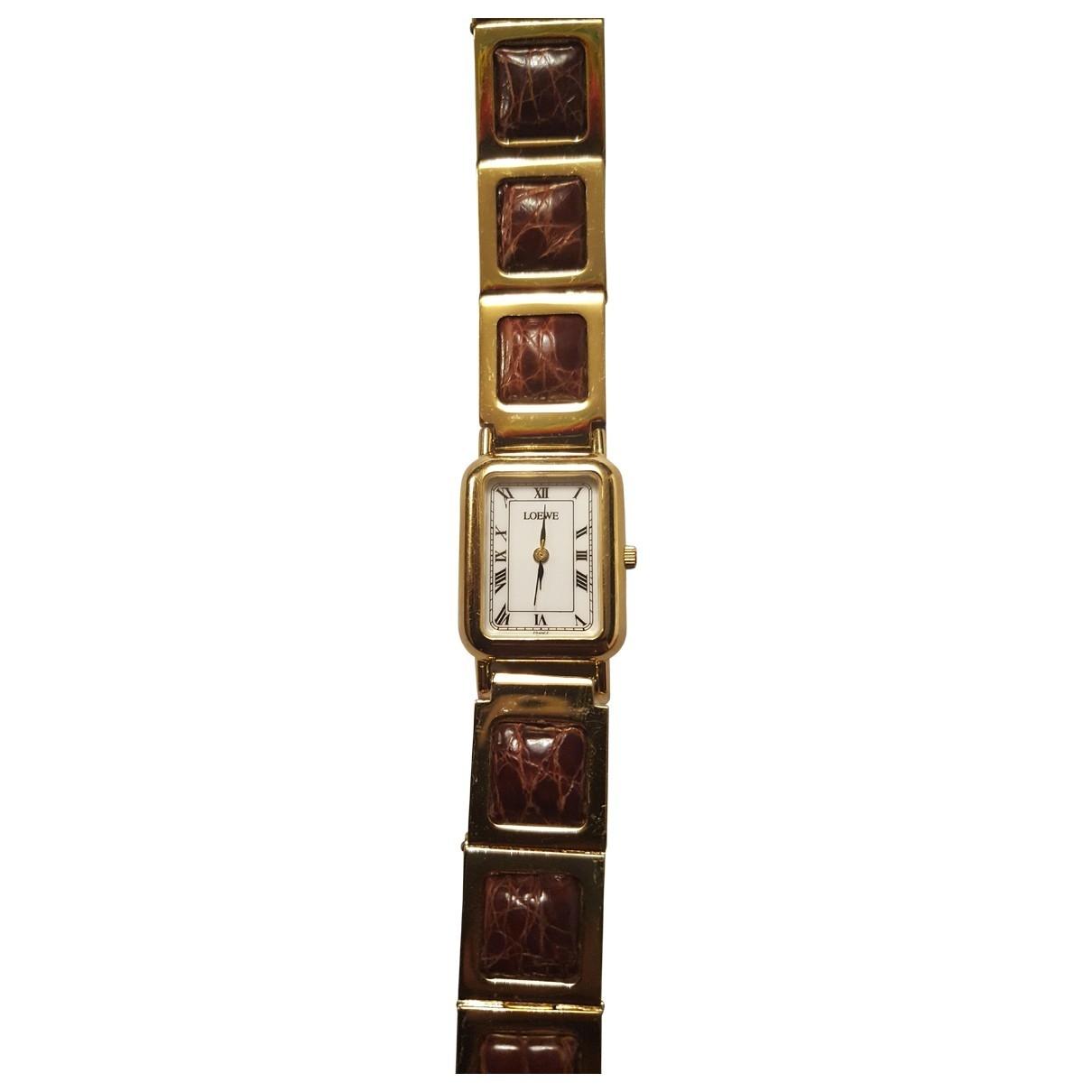 Loewe \N Uhr in Stahl