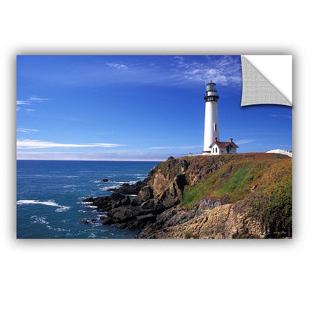 Brushstone Pigeon Point Lighthouse Removable WallDecal, One Size , Blue