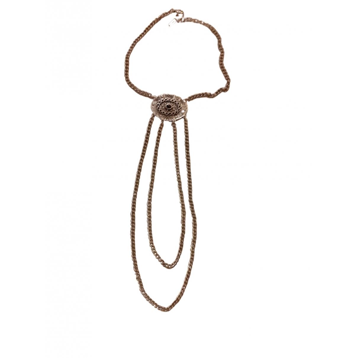 The Kooples \N Halskette in  Silber Metall