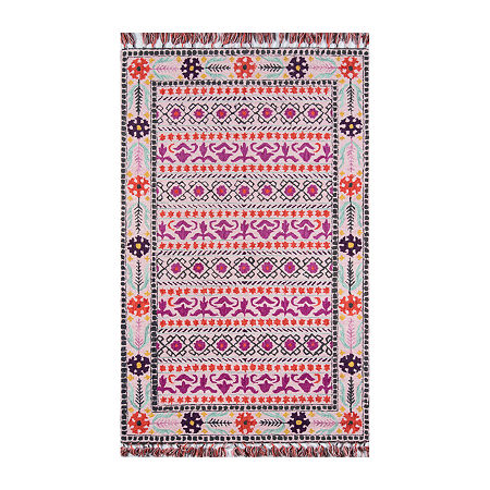 Momeni Tahoe 7 Hand Tufted Rectangular Indoor Rugs, One Size , Pink