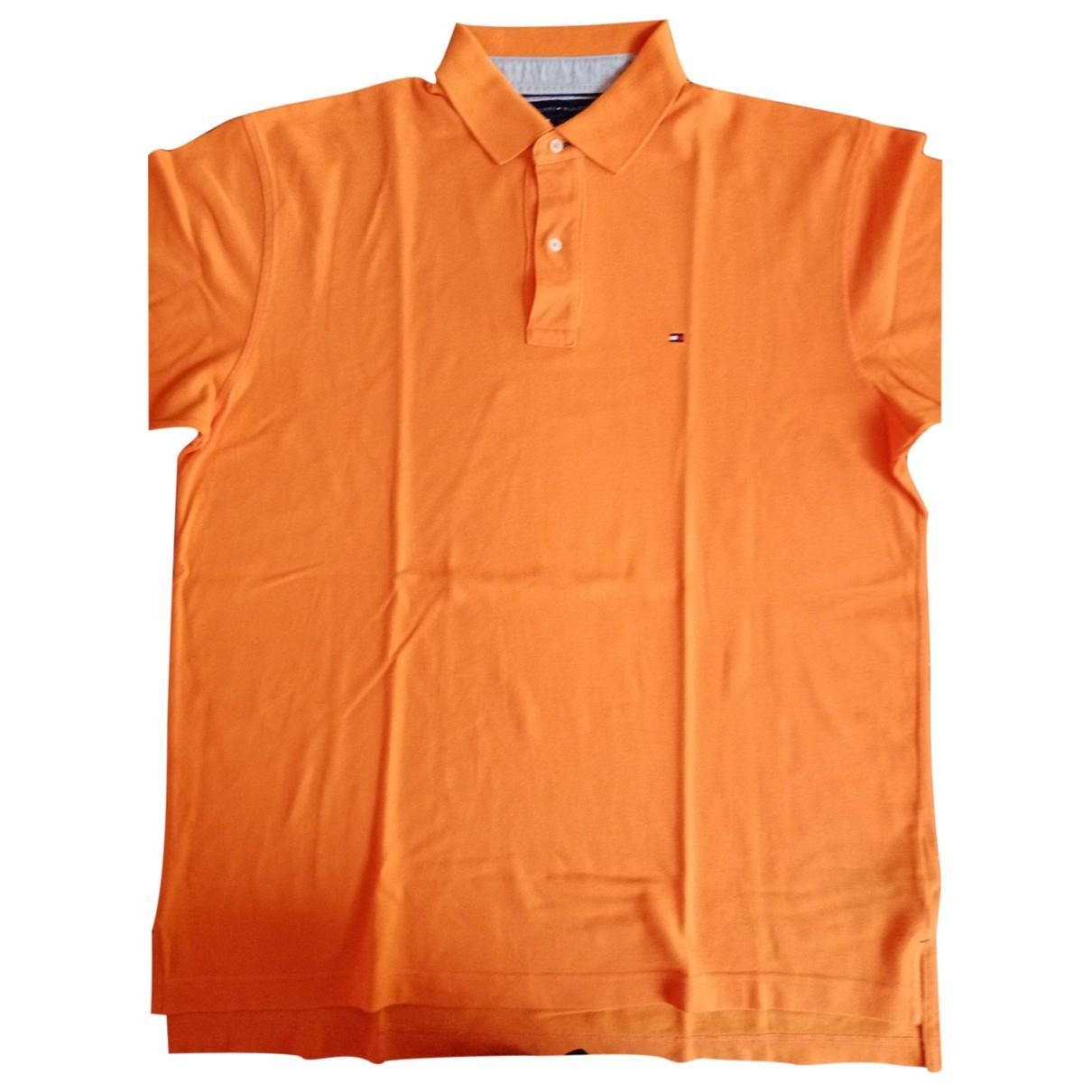 Tommy Hilfiger - Polos   pour homme en coton - orange