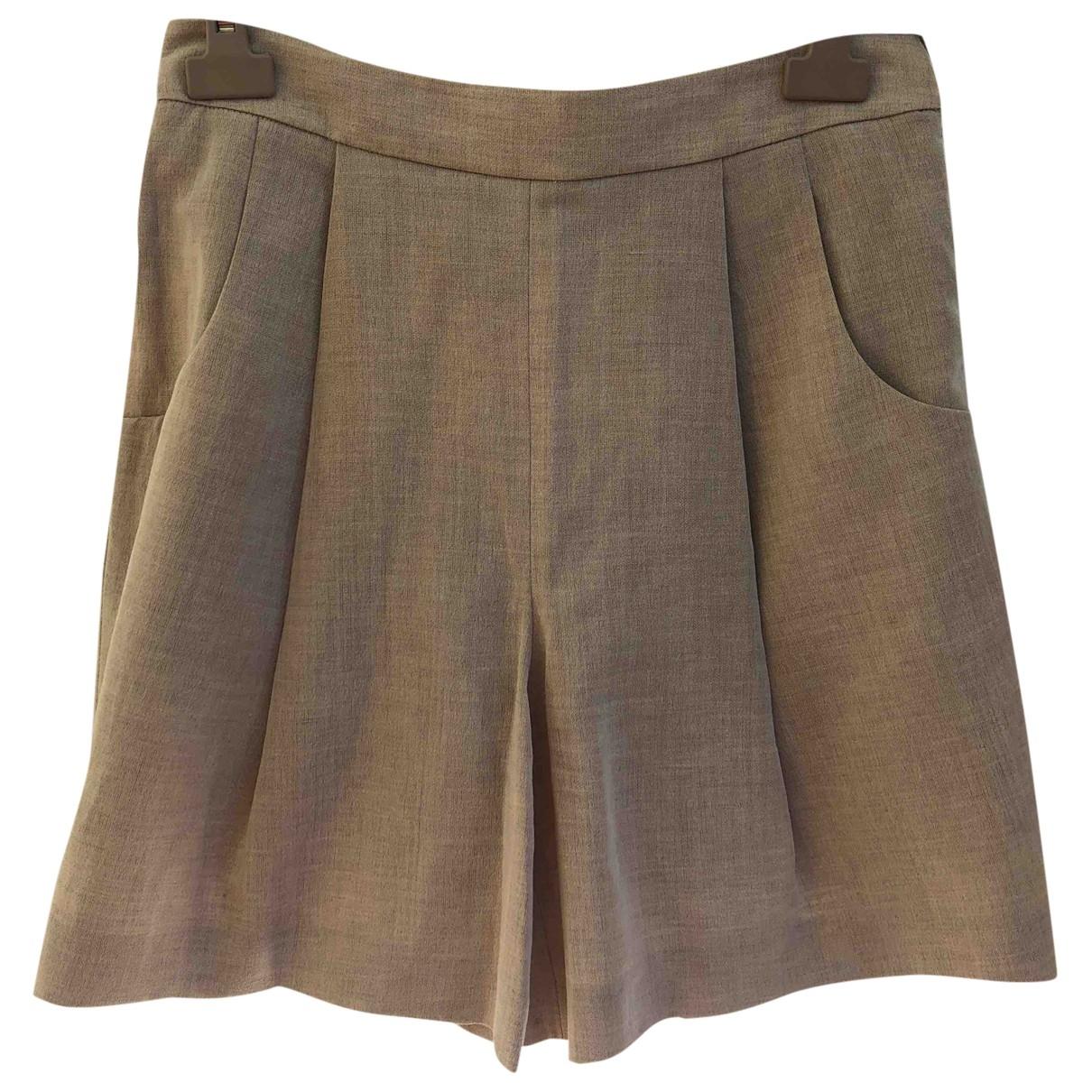Giorgio Armani \N Shorts in  Beige Wolle