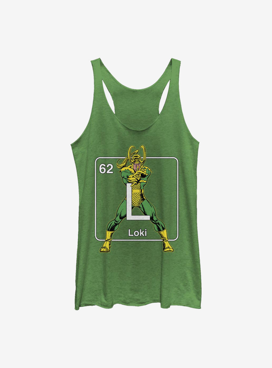 Marvel Loki Periodic Loki Womens Tank Top