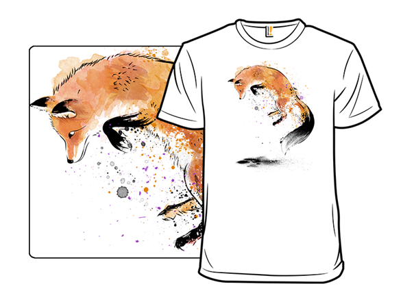 Red Fox In The Snow T Shirt