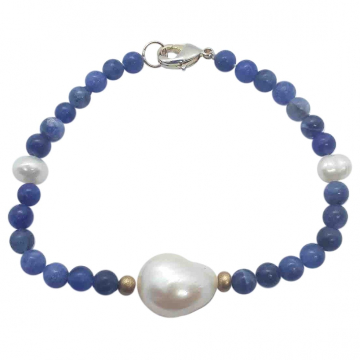 Non Signé / Unsigned \N Blue Pearls bracelet for Women \N