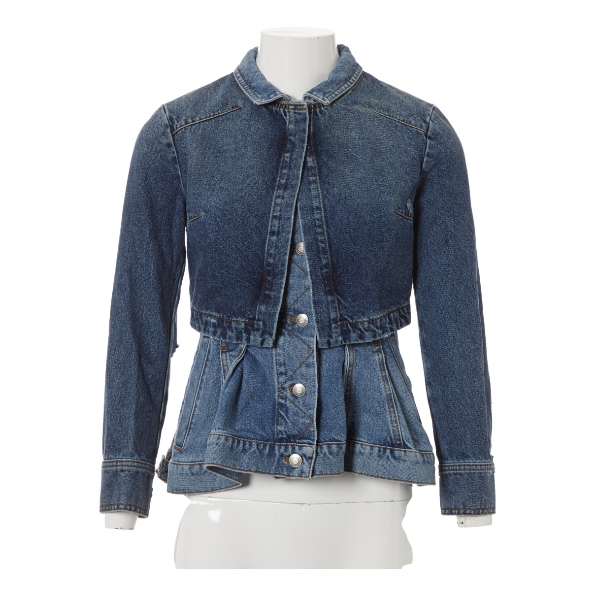 Alexander Mcqueen N Blue Denim - Jeans jacket for Women 36 IT