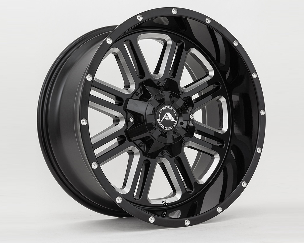 American Off-Road A10620A263539-44BMI A106 Black Milled Wheel 20x12 6x135/139.7 -44mm
