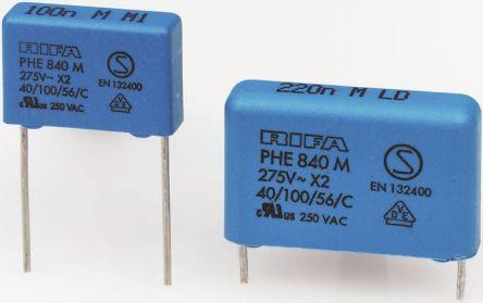 KEMET 4.7μF Polypropylene Capacitor PP 275V ac ±20% Tolerance Through Hole PHE840 Series (10)