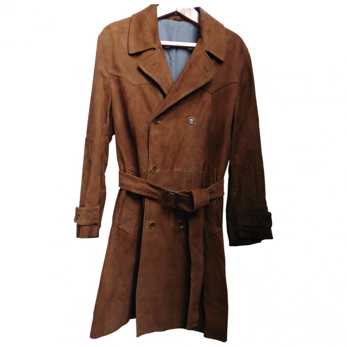 Kenzo \N Brown Suede coat  for Men 54 FR