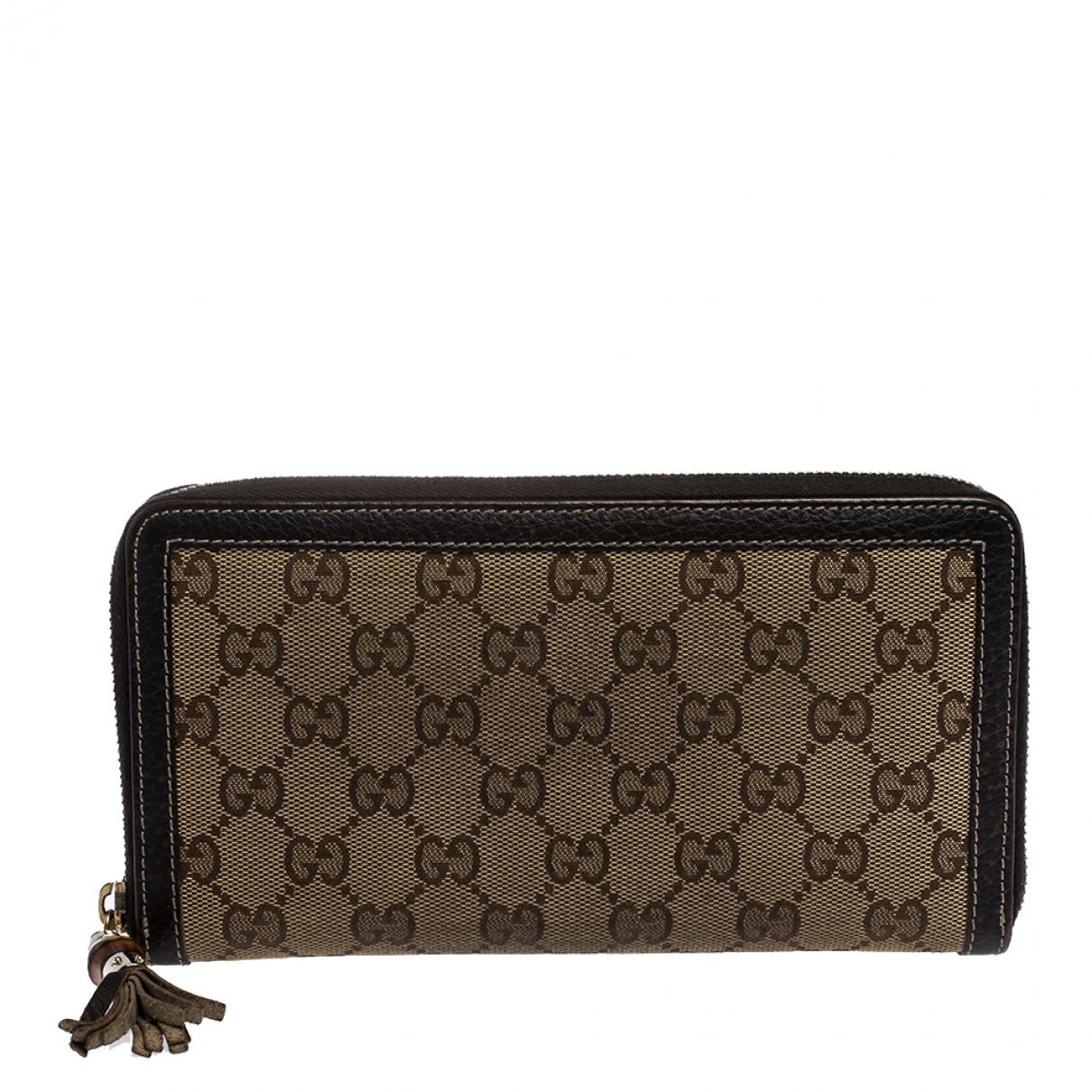 Gucci - Portefeuille Continental pour femme en cuir - beige