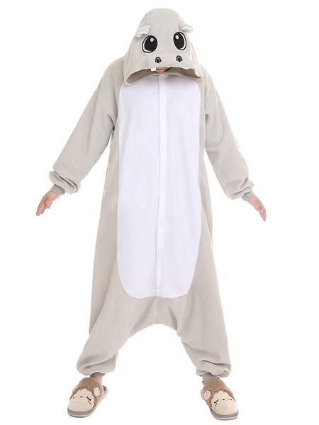 Milanoo Disfraz Halloween Traje de la mascota sintetico Unisex de Hippo gris  Halloween