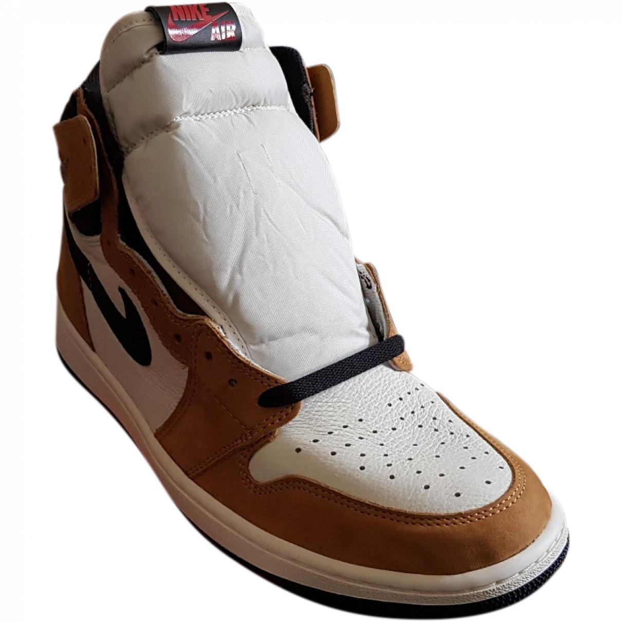 Jordan Air Jordan 1  Multicolour Leather Trainers for Men 13 US