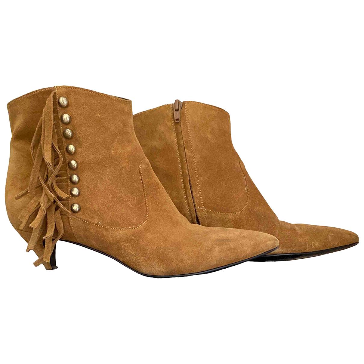 Saint Laurent \N Suede Ankle boots for Women 38.5 IT