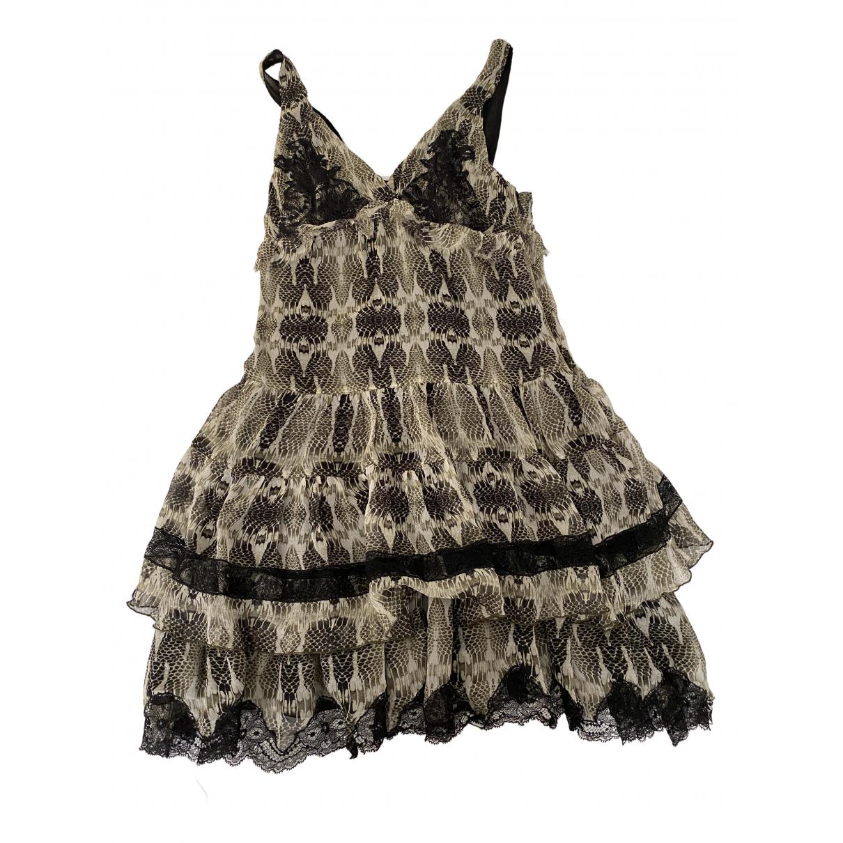 Pinko \N Kleid in  Khaki Seide
