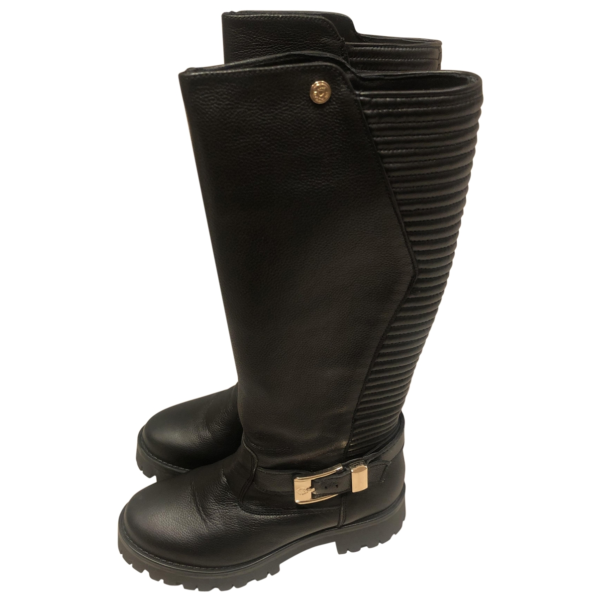 Moschino Love \N Black Leather Boots for Women 36 EU