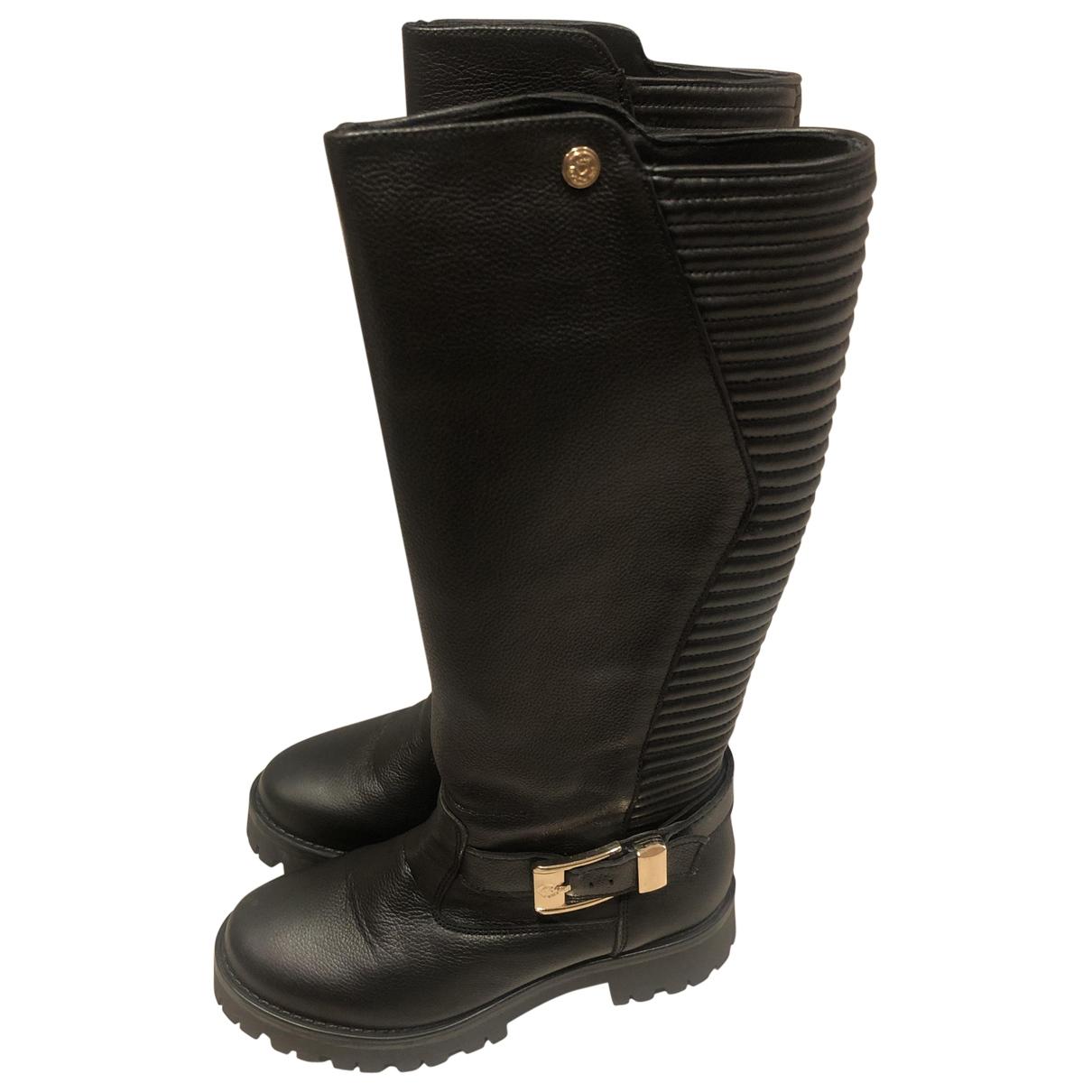 Moschino Love \N Stiefel in  Schwarz Leder