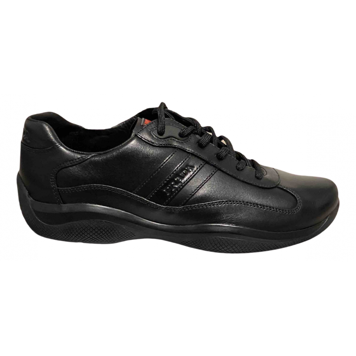 Prada N Black Leather Trainers for Men 39 EU
