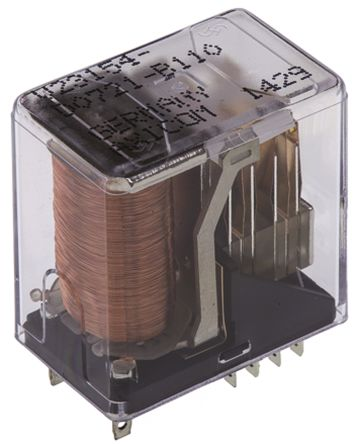 TE Connectivity , 24V dc Coil Non-Latching Relay 4PDT, 2A Switching Current PCB Mount, 4 Pole